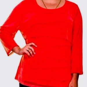 Stunning Red Alfani blouse